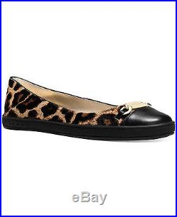 NIB Michael Kors Lainey Calf Hair Leather Cheetah Ballet Flats Women's Size 10