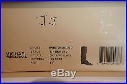 NIB Michael Kors MK 40F5HAFB1L HAMILTON 50/50 Dk Chocolate Tall Boots Sz 10 GIFT