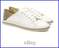 NIB Michael Kors MK City Sneaker White/Gold 45S7MCFS1B Women's Size 9