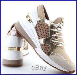 NIB Michael Kors Scout Trainer Scuba Sneakers Shoe Sand Womens Sz 8.5 9.5 10 11