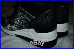 NIB Michael Kors Scout Trainer Scuba Sneakers Shoe silver Womens Sz 8.5