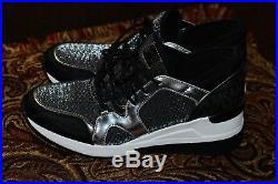 NIB Michael Kors Scout Trainer Scuba Sneakers Shoe silver Womens Sz 9.5