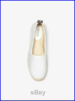 NIB Size 10 Michael Kors Kendrick White Slip On Canvas Espadrille Shoe