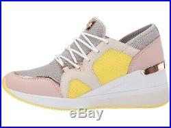 NIB Size 10 Michael Kors Women's Premium Liv Trainer Mesh Sneakers Aluminum WB