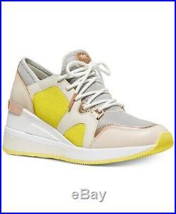 NIB Size 10 Michael Kors Women's Premium Liv Trainer Mesh Sneakers Shoe Aluminum