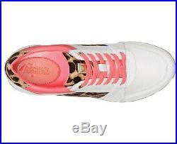 NIB Size 11 Michael Kors Billie Trainer Sneakers Shoes White Pink Cheetah