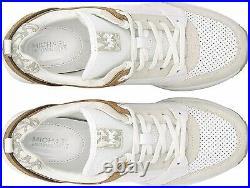 NIB Size 11 Michael Kors GEORGIE Trainer Optic White Multi Sneakers Shoes