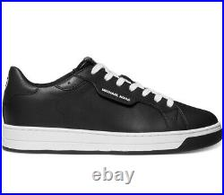 NIB Size 11 Michael Kors Keating Leather Lace Up Shoe Black White