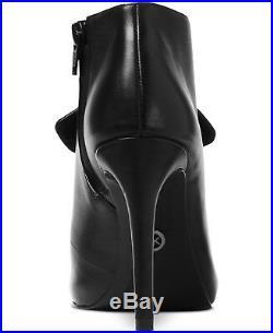 NIB Size 11 Michael Kors Pippa Black Nappa Leather Peep Toe Booties $175 RETAIL