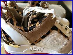 NIB Size 11Michael Kors Women Georgie Trainer Mesh Sneakers Shoes White/nat