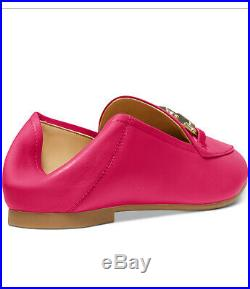 NIB Size 5.5 Michael Kors Charlton Lacquer Pink Loafer Leather Shoes $115