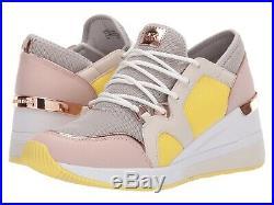NIB Size 5.5 Michael Kors Women Premium Liv Trainer Mesh Sneakers Shoes Aluminum