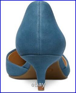 NIB Size 5 Michael Kors Alba Flex Kitten Heels Shoes Dark Chambray Blue WS
