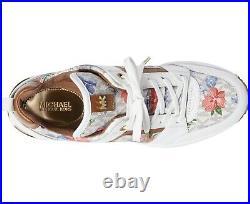 NIB Size 5 Michael Kors GEORGIE Trainer Vanilla Flower Print Sneakers Shoes