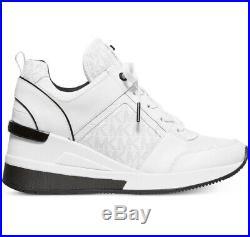 NIB Size 5 Michael Kors Georgie Trainer Mesh Sneakers Shoes White