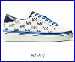 NIB Size 6.5 Michael Kors Chapman MK Logo Sneakers Shoes Blue Navy White