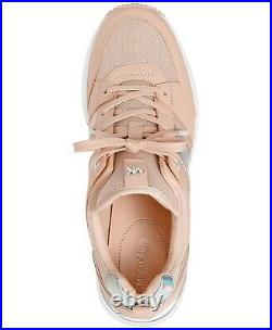 NIB Size 6.5 Michael Kors GEORGIE Wedge Trainer Soft Pink Sneakers Shoes