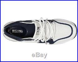 NIB Size 6.5 Michael Kors Liv Extreme Trainer Mesh Sneakers Admiral Navy White
