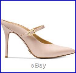 NIB Size 6.5 Michael Kors Tiegan Leather Mule Mary Jane Soft Pink