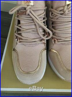 NIB Size 6 MICHAEL KORS Liv Trainer Sneaker Soft Pink Rose Gold $145