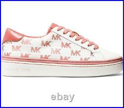 NIB Size 6 Michael Kors Chapman MK Logo Woman's Sneakers Shoes Tea Rose