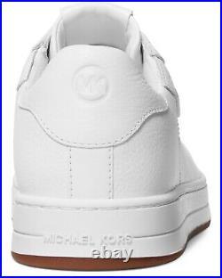 NIB Size 6 Michael Kors Keating Leather Lace Up Shoe Optic White