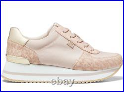 NIB Size 6 Michael Kors Monique Athletic Trainer Sneakers Shoes Ballet Pink Logo