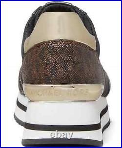 NIB Size 6 Michael Kors Monique Athletic Trainer Sneakers Shoes Brown Logo