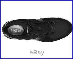 NIB Size 7.5 MICHAEL KORS Allie Trainer Sneaker Leather Black