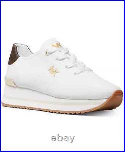 NIB Size 7.5 Michael Kors Monique Knit Running Trainer Sneakers Shoes White