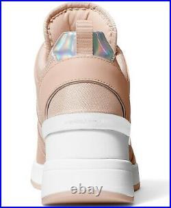 NIB Size 7 Michael Kors GEORGIE Wedge Trainer Soft Pink Sneakers Shoes