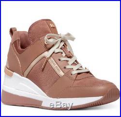 NIB Size 7 Michael Kors Georgie Trainer Mesh Sneakers Shoes Tuscan Rose