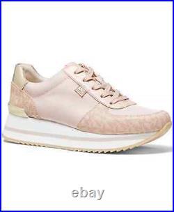 NIB Size 7 Michael Kors Monique Athletic Trainer Sneakers Shoes Ballet Pink Logo