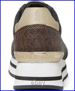 NIB Size 7 Michael Kors Monique Athletic Trainer Sneakers Shoes Brown Logo