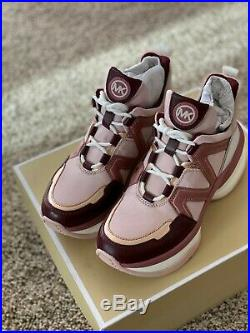 NIB Size 7 Michael Kors Olympia Trainer Soft Pink