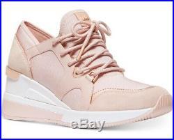 NIB Size 7 Michael Kors Premium Liv Trainer Sneakers Shoes Soft Pink