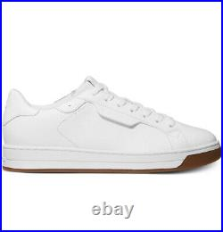 NIB Size 8.5 Michael Kors Keating Lace Up Leather Shoe Optic White