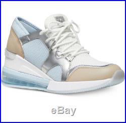 NIB Size 8.5 Michael Kors Liv Extreme Trainer Mesh Sneaker Pale Ocean Blue White