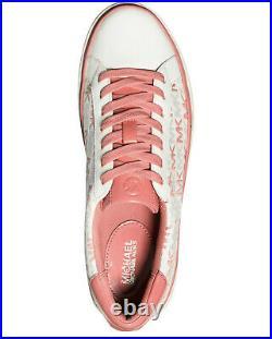 NIB Size 8 Michael Kors Chapman MK Logo Woman's Sneakers Shoes Tea Rose