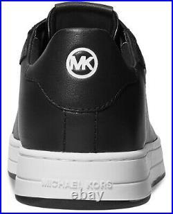 NIB Size 8 Michael Kors Keating Leather Lace Up Shoe Black White