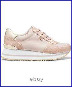NIB Size 8 Michael Kors Monique Athletic Trainer Sneakers Shoes Ballet Pink Logo