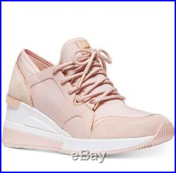 NIB Size 8 Michael Kors Premium Liv Trainer Sneakers Shoes Soft Pink WB