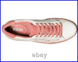NIB Size 9.5 Michael Kors Chapman MK Logo Woman's Sneakers Shoes Tea Rose