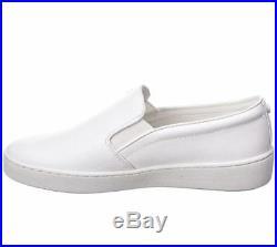 NIB Size 9.5 Michael Kors Keaton Slip On Embossed MK Logo Optic White