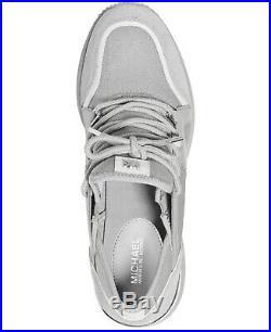NIB Size 9.5 Michael Kors Premium Liv Trainer Sneakers Shoes Dove Gray