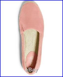 NIB Size 9.5 Michael Kors Preston Espadrille Shoe Grapefruit Pink