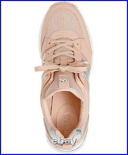 NIB Size 9 Michael Kors GEORGIE Wedge Trainer Soft Pink Sneakers Shoes
