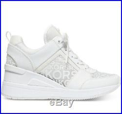 NIB Size 9 Michael Kors Georgie Trainer Mesh Sneakers Shoes White