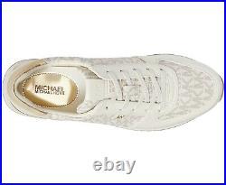 NIB Size Michael Kors Monique Athletic Trainer Sneakers Shoes Cream Logo