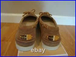 NIB Women Michael Kors Blair Moc Casual Flats Loafer Shoes DARK KHAKI 6.5-9